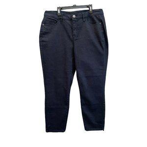 Lane Bryant Womens Size 16 Skinny Cropped Dark Wash Stretch Denim Blue Jeans NWT